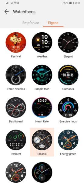 HUAWEI Watch GT jetzt mit vielen neuen Watchfaces! 2