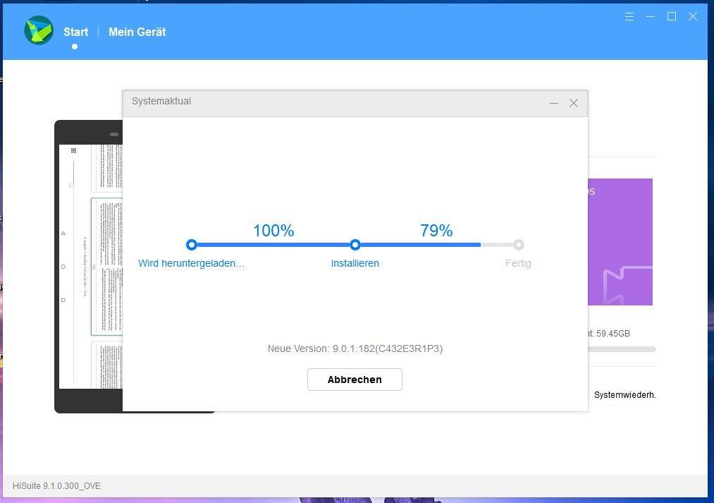MediaPad M5 WiFi – April-Patch – auch über HiSuite 2