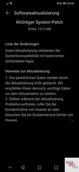 Aktuelle Systempatches auf vielen HUAWEI Geräten - Das steckt dahinter 2