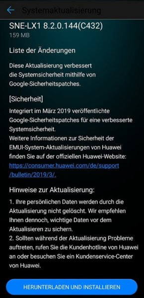 Mate 20 Lite erhält ebenfalls Google März Patch 1