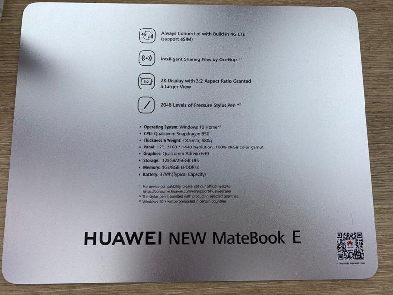 HUAWEI MateBook E Daten