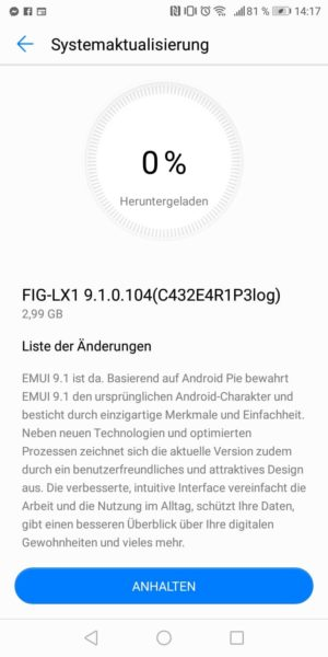 [UPDATE] Android 9 Beta Test auch für HUAWEI P Smart verfügbar 1