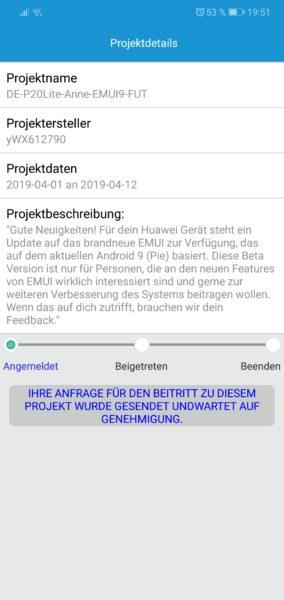 HUAWEI P20 Lite Android 9 Beta