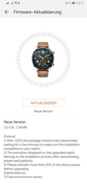HUAWEI Watch GT jetzt mit vielen neuen Watchfaces! 5