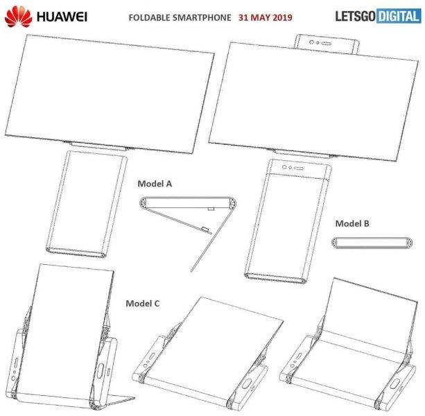 Neue Patente für faltbare Smartphones von HUAWEI 1
