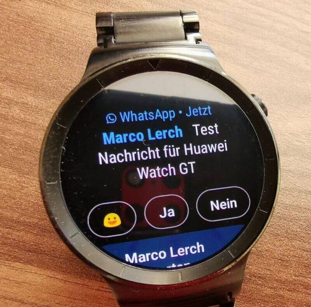 Huawei Watch Benachrichtigung WhatsApp