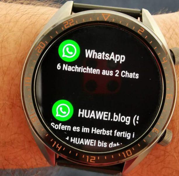 Huawei Watch GT Benachrichtigung WhatsApp