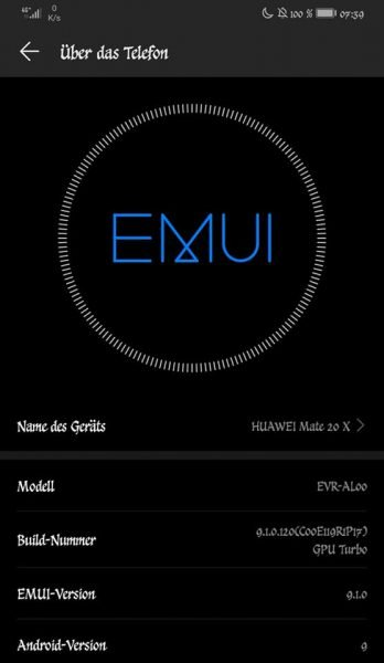 Mate 20 X (China) - EMUI 9.1 Update