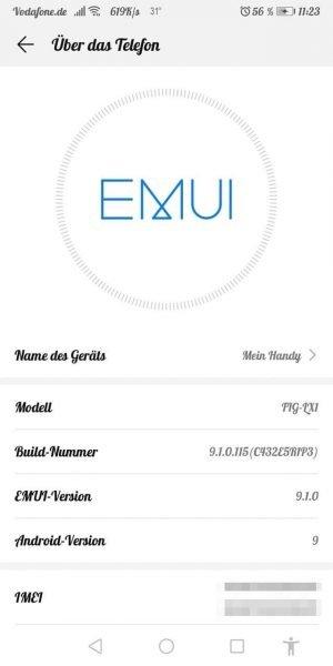 HUAWEI P Smart (2018) und P20 lite bekommen Android 9 mit EMUI 9.1 1