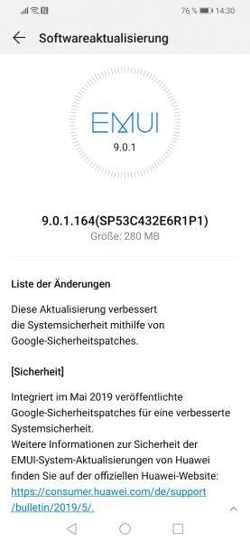 Huawei Mate 20 Lite erhält Android Pie und Sicherheitspatch für Mai 1