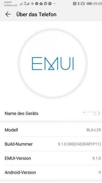HUAWEI Mate 10 Pro EMUI 9.1