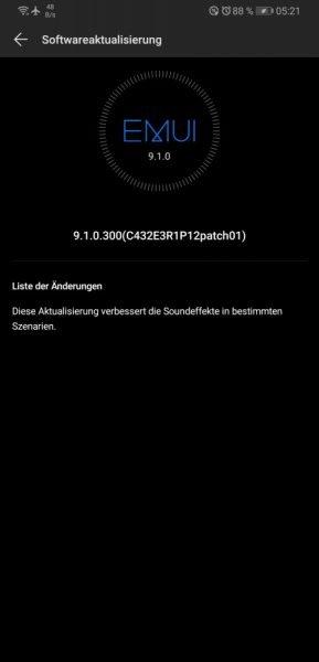 Mate 20X (Europa) erhält Sound-Patch 3