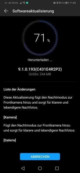 Changelog EMUI 9.1.0.193