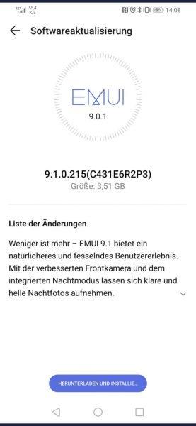 HUAWEI P30 lite - EMUI 9.1 Update mit Juli Patch gestartet 1