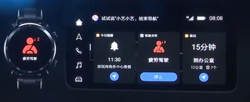 HiCar Autodisplay mit Smartwatch