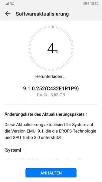 EMUI 9.1 jetzt auch für das Huawei P10 1
