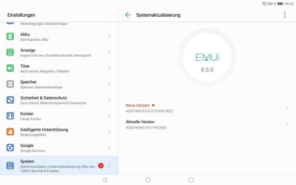 MediaPad T5 bekommt August-Patch 2019 1