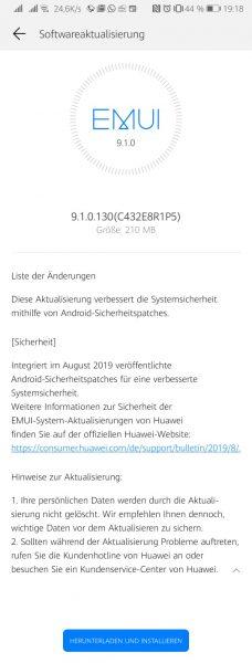 P Smart Sicherheitspatch August 9.1.0.130