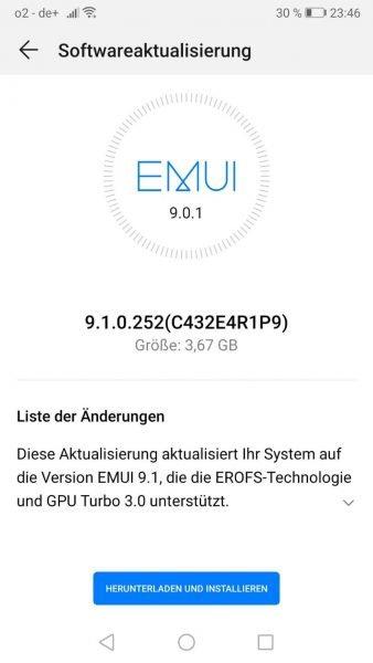 HUAWEI P10 PLUS stellt sich auch in die EMUI 9.1 Reihe 1