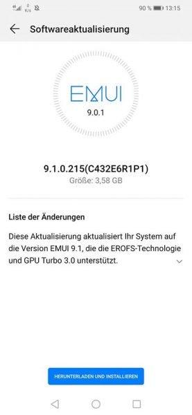 HUAWEI Mate 20 lite - Firmware Update- SNY-LX1 9.1.0.1