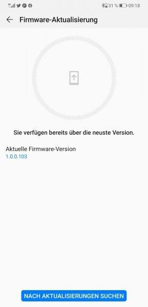 Huawei FreeLace Firmware-Version