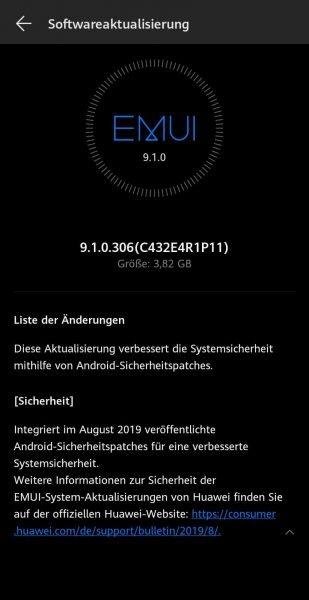 Mate 10 Pro und Y9 (2019) erhalten neue Updates 3