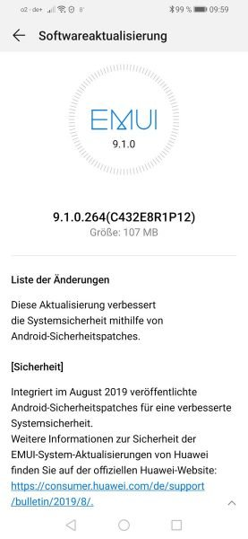 P-Smart-2019-August-Sicherheitsupdate, POT-LX1 9.1.0.264