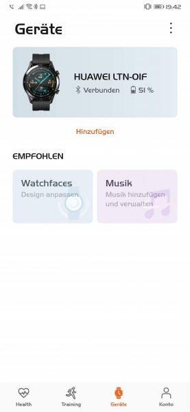 HUAWEI Watch GT 2 Test Health App