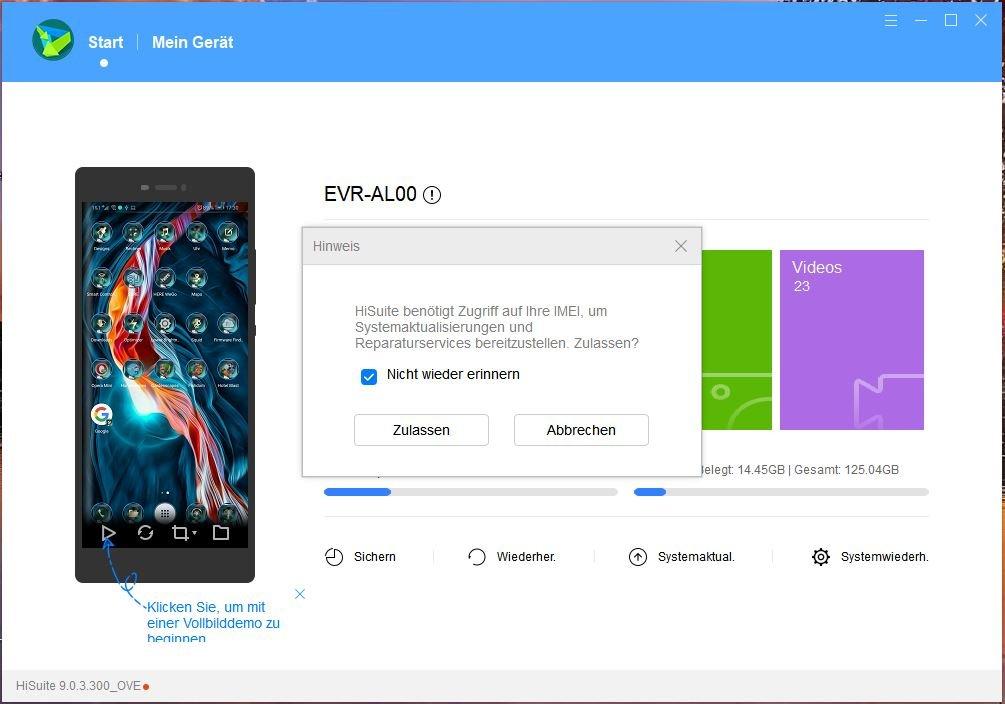 Updateprobleme HiSuite