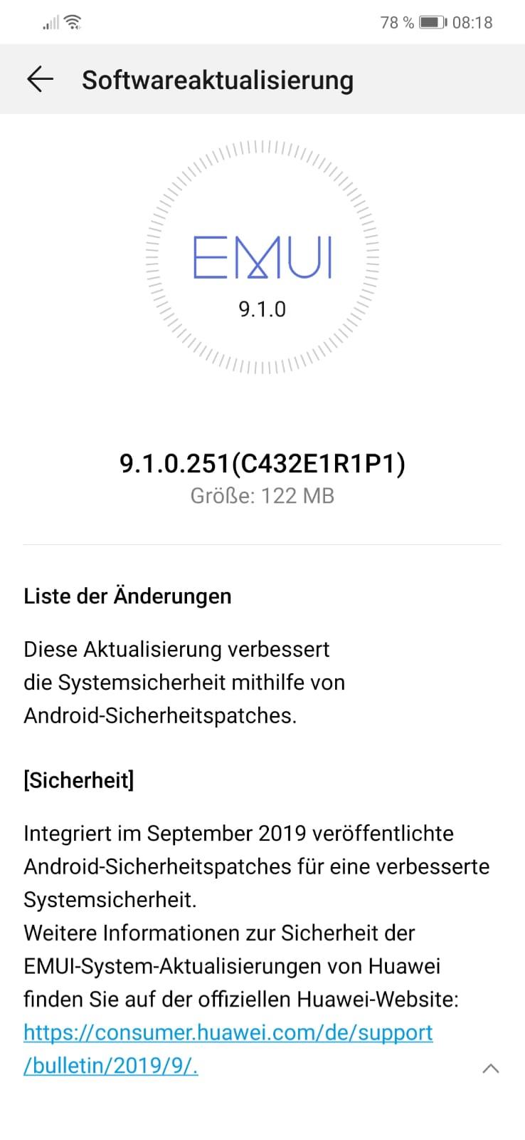 MediaPad M5 10.8 LTE und P Smart Plus (2019) erhalten September-Patch 3