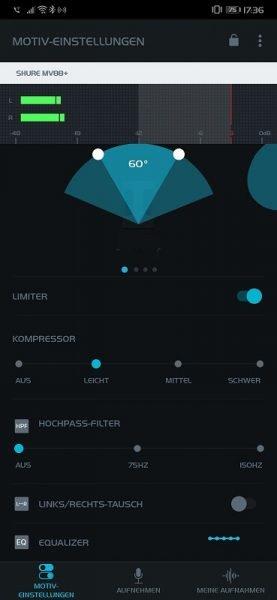 Shure MV88+ Video Kit Motiv Audio App