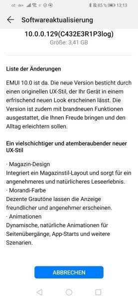 EMUI 10 Beta – Start für das PSmart 2019 – Anmeldung für das P20 Pro 2