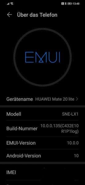 HUAWEI Mate 20 lite Beta Tester bekommen EMUI 10 (OTA) 1