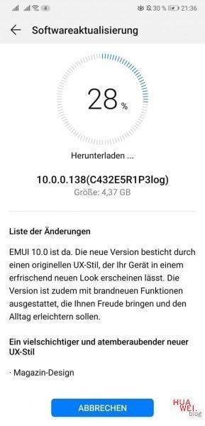 HUAWEI P20 und P20 Pro - EMUI 10 / Android Q wird in der Beta verteilt. 2