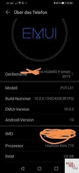 HUAWEI P Smart 2019 - EMUI 10 / Android Q via HiCare verfügbar 1