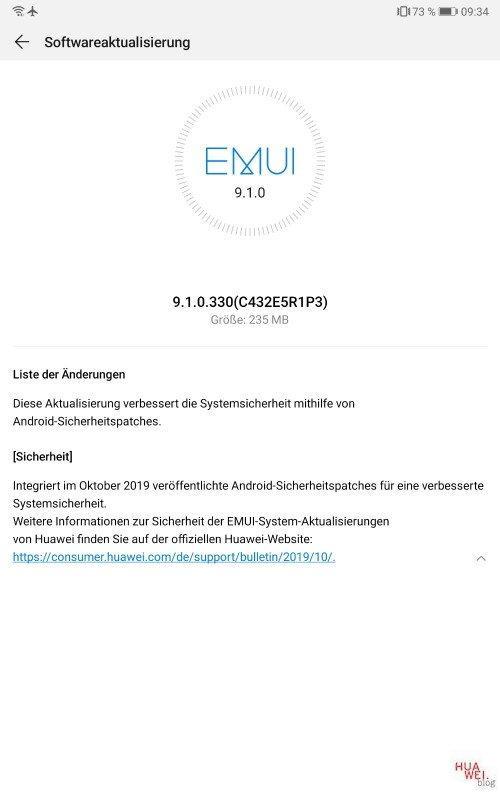 MediaPad M5 8.4 LTE – erhält Oktober-Patch 2019 1