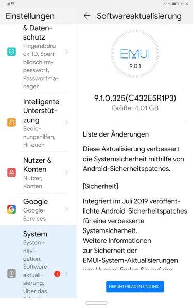 Das P20 startet mit der EMUI 10 Beta - MediaPad M5 Pro bekommt EMUI 9.1 1