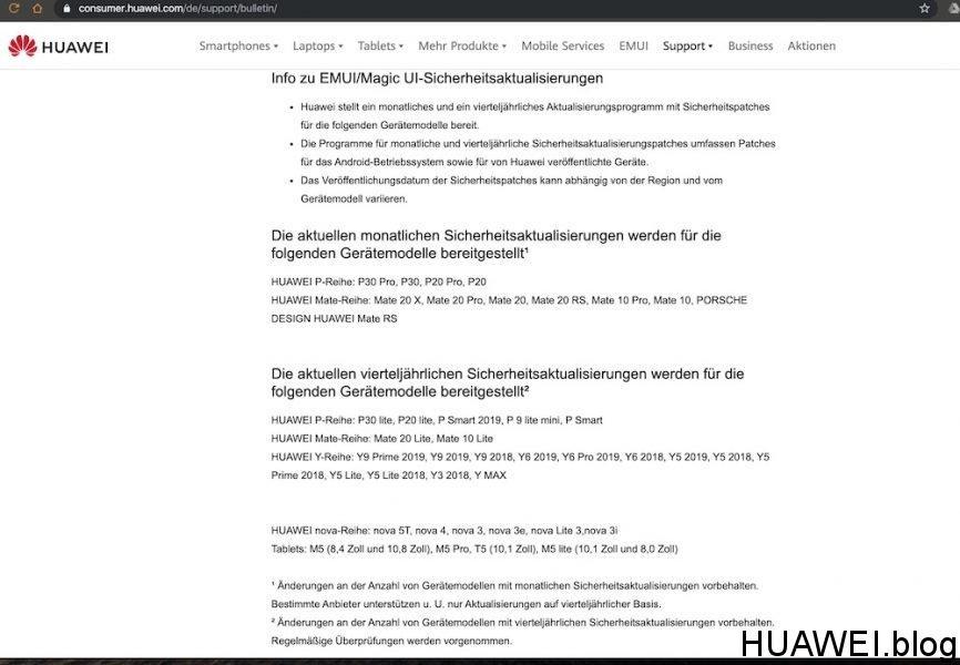 Sicherheitspatch September für das HUAWEI P30 Pro wird OTA ausgerollt 1