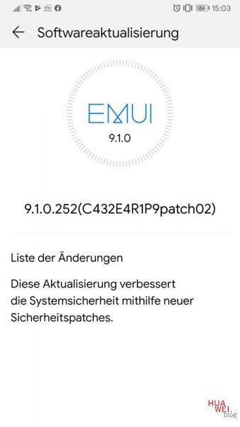Huawei Mate 9, P10 Plus und P30 erhalten unklares Sicherheits-Update 2
