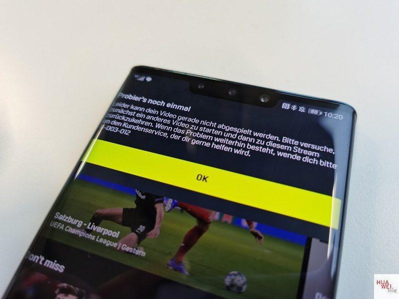 Huawei Mate 30 Pro Netflix DAZN