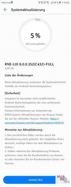 Huawei P20 und Mate 10 Lite erhalten November Sicherheitspatches 2
