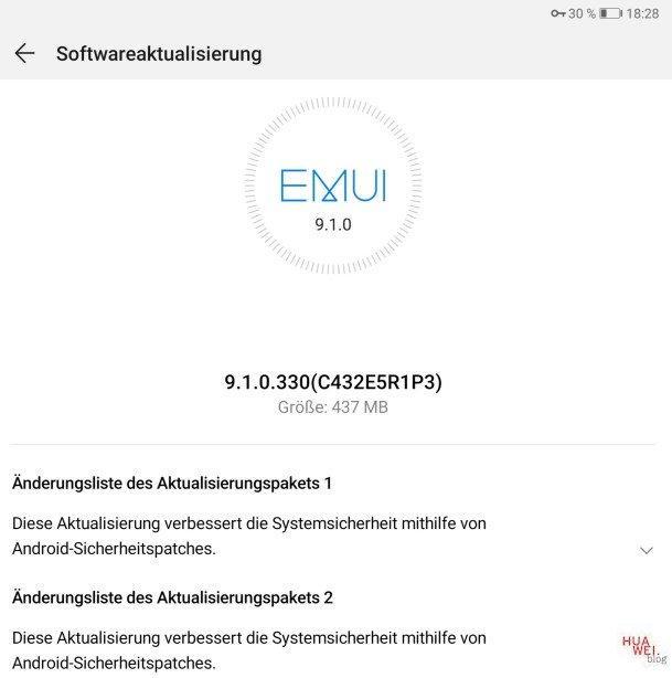 MediaPad M5 Pro — November-Patch 2