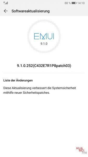 Huawei Mate 9, P10 Plus und P30 erhalten unklares Sicherheits-Update 1