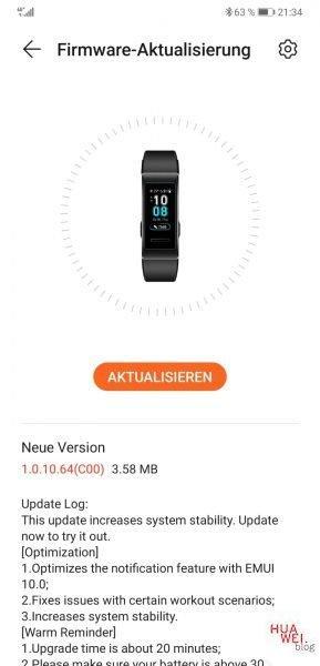 Huawei Band 3 Pro und Freebuds 3 erhalten Firmware-Update 1