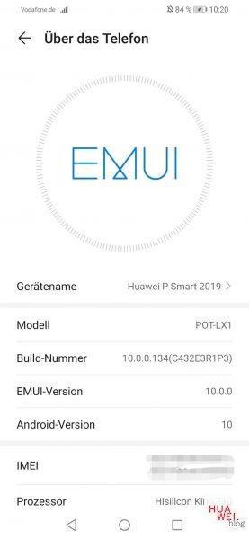 Huawei P Smart 2019 - EMUI 10 Pre-Release wird per OTA ausgerollt 1