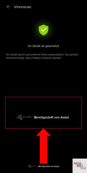 Huawei Avast Optimizer Virenscan