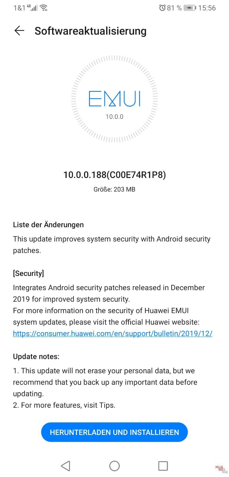 Mate 20 X (China) - Dezemberpatch 2019