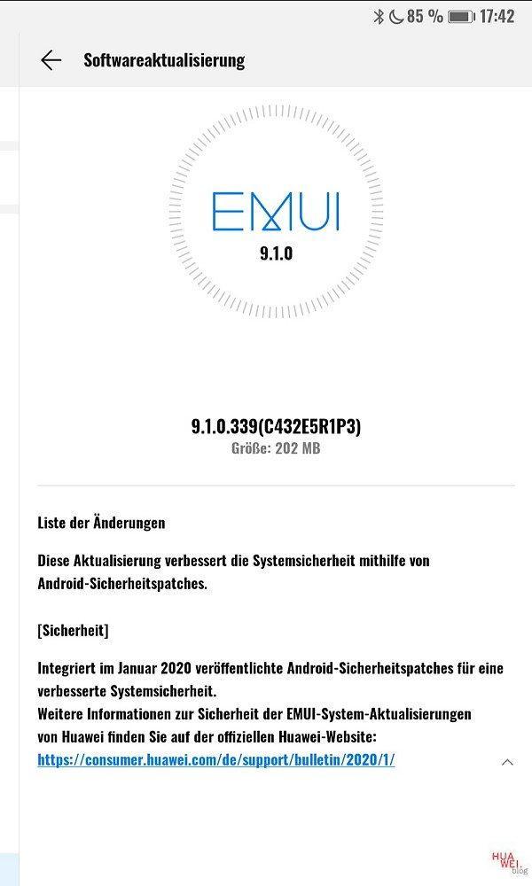 MediaPad M5 Pro - Januarpatch 2020