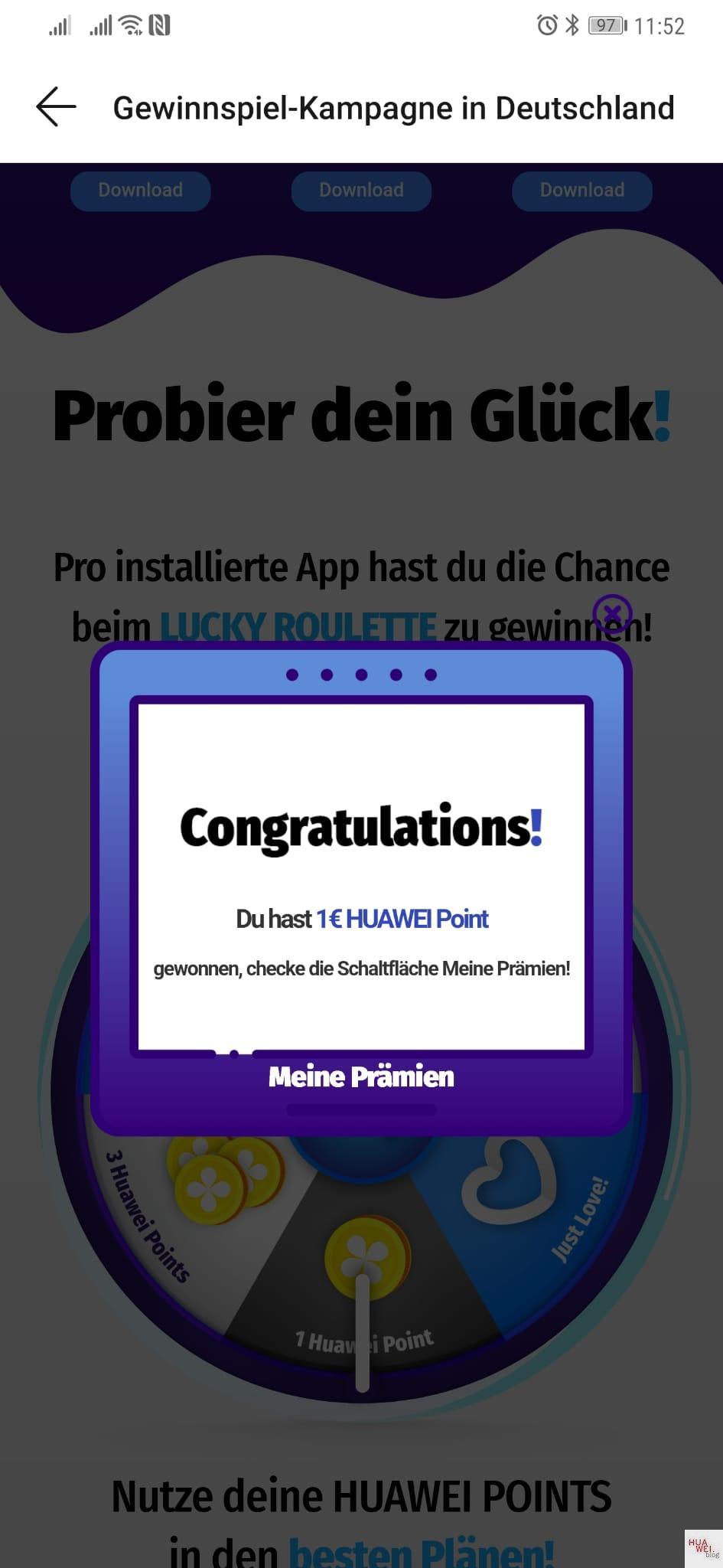 """Huawei veranstaltet AppGallery Gewinnspiel """"Lucky Roulette"""" 4"""