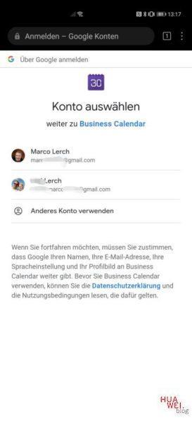 HUAWEI ohne Google Kalender